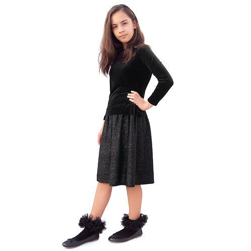 Velvet and chenille dress