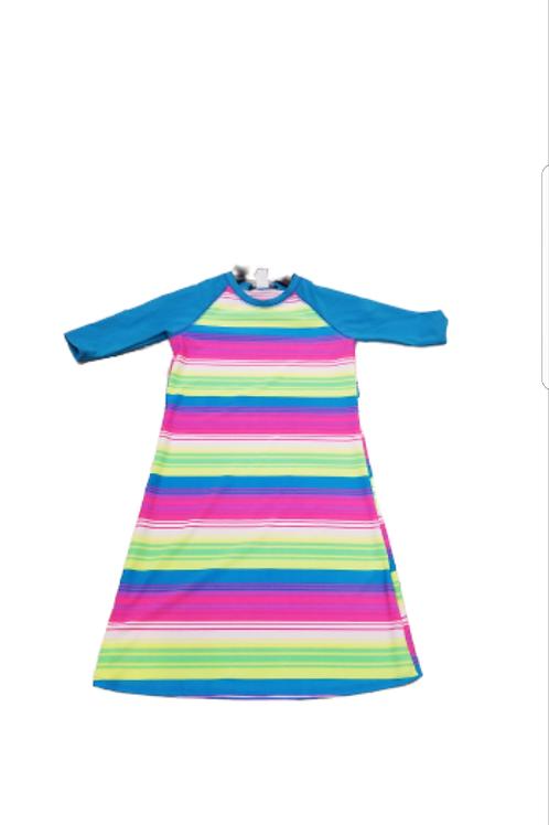 Kids swim cover up ( blue sleeve)