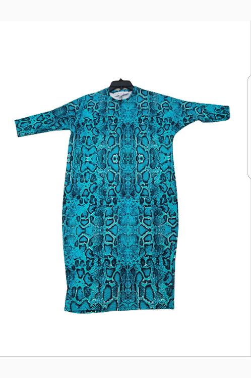 Ladies dolman sleeve swim dress runs generous