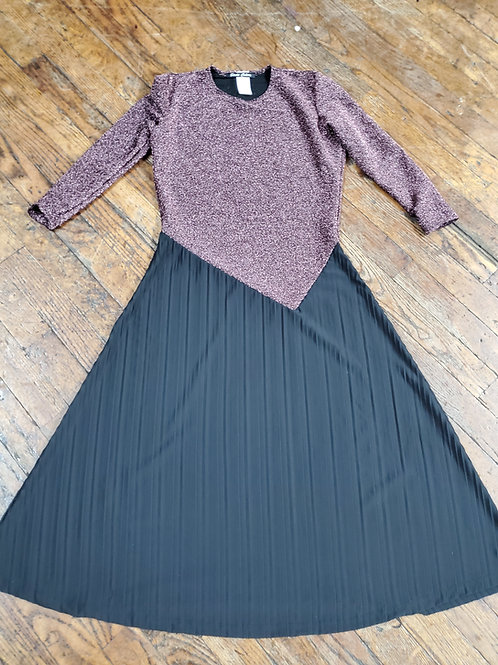 Teen shimmer and pleated dress