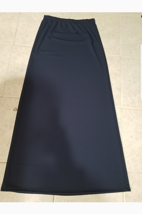 Ladies navy long skirt