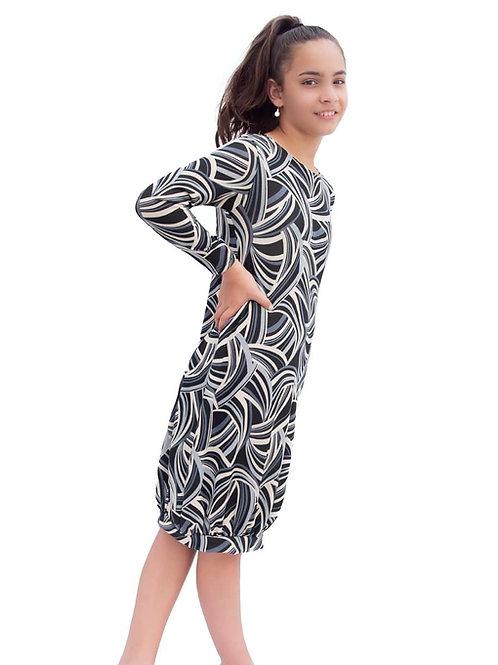 Geometric sweater knit dress