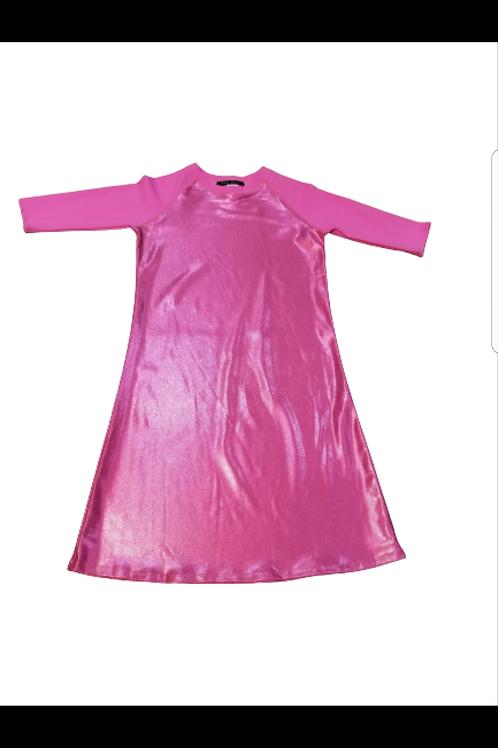 Kids swim cover up (pink mettalic)