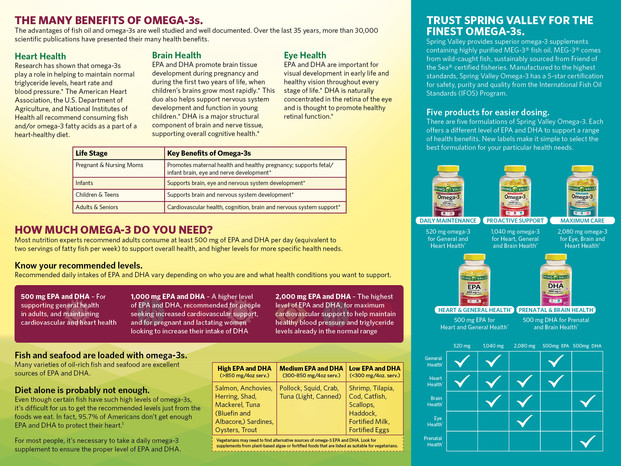 DSM Omega 3 brochure inside panels