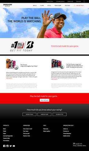 Bridgesont golf landing page - desktop