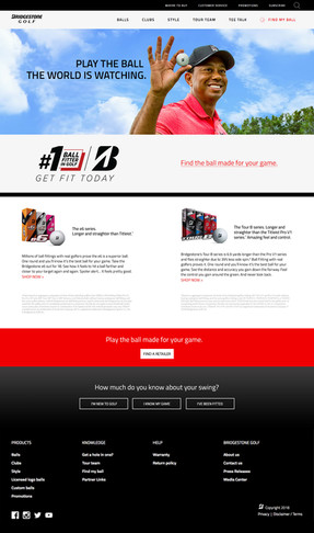 Bridgesont golf landing page - desktop