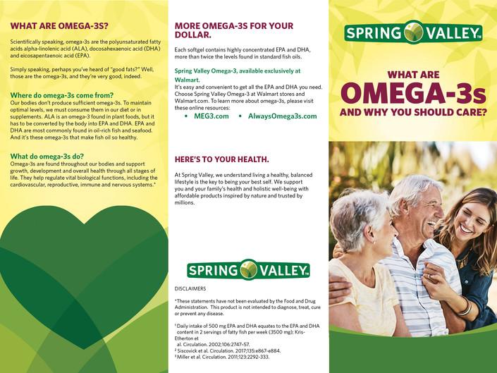 DSM Omega 3 brochure outside panels
