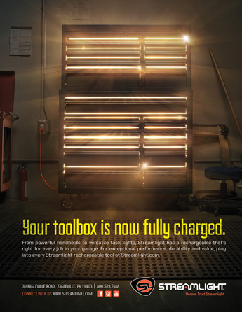 USB Rechargeable toolbox Print Ad