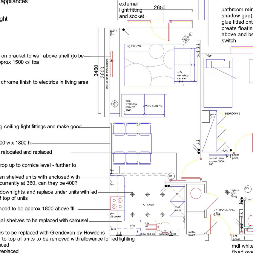 Details Plan Drawing with lots of Notes