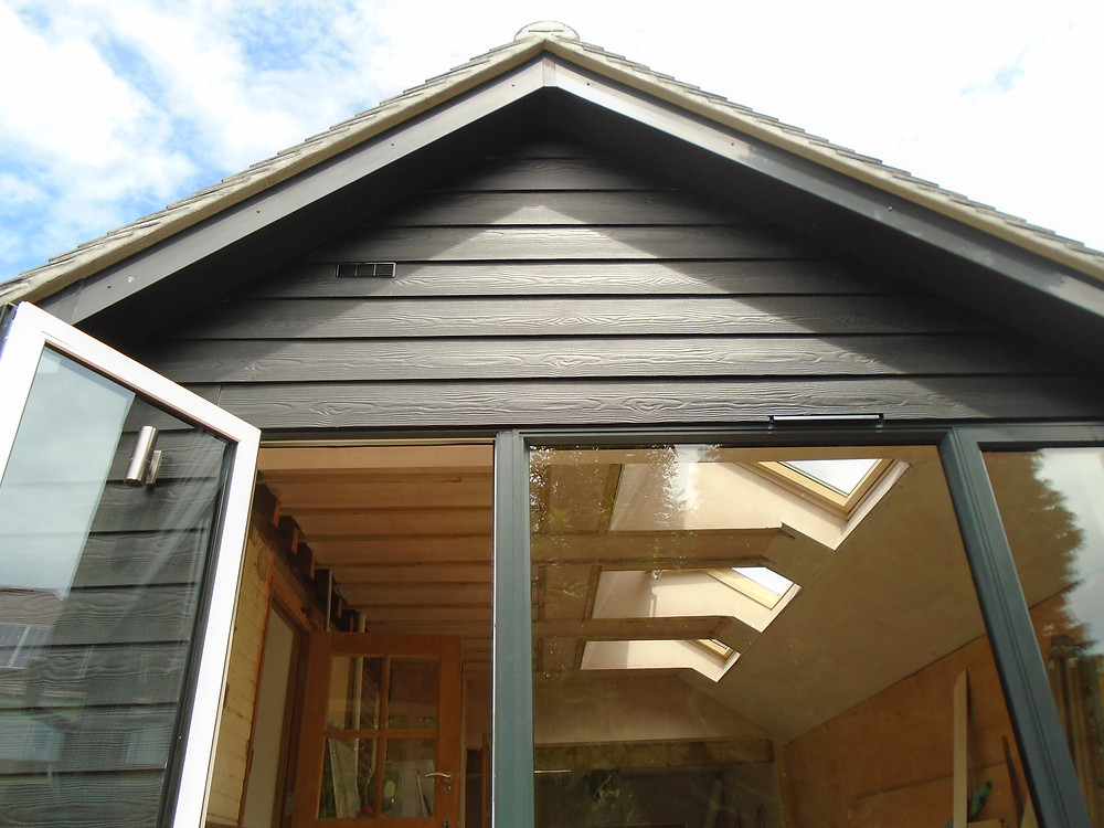 New art studio with pitched roof