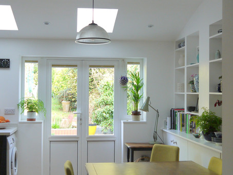 Single storey extension to create a light-filled kitchen, dining and study
