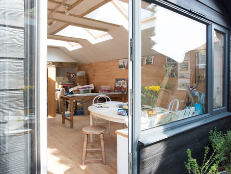 Converting an under-used garage into an inspirational art studio
