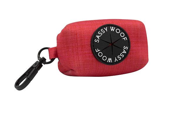 Sassy Woof - Poo Bag Holder - Merlot
