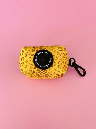 Boss+Boo Poop Bag Holder - Golden Leopard