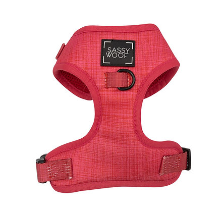 Sassy Woof - Adjustable Harness -Merlot