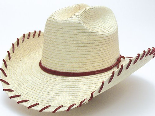 Kid's Cattleman  Hat Red Suede Lace