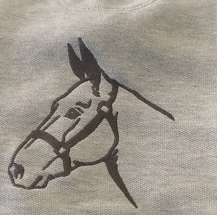 MULE HEAD.  This is just a sample of the embroiderywe do,