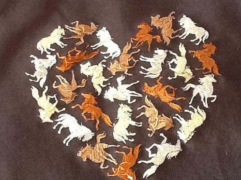 HORSE HEART. This is just a sample of the embroiderywe do,
