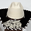 Thumbnail: Western Cowboy Hat with Cowhide and Crystal Hat Band Size 7 1/4 #51