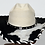 Thumbnail: Wester Cowboy Hat with Cowhide and A/B Crystal Hat Band SIze 7 1/2 # 55