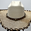 Thumbnail: Western Cowboy Hat with Cowhide and Amber Bling Hat Band Size 7 #49
