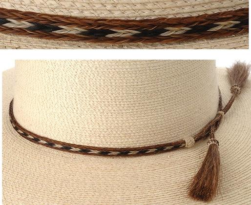 3 Strand Horse Hair Hatband, Pattern 4  Product #: bhh03-4