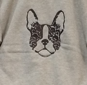 FRENCHIE OUT LINE. This is just a sample of the embroidery we do,
