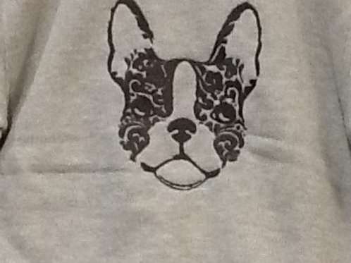 FRENCHIE OUT LINE. This is just a sample of the embroiderywe do,