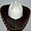 Thumbnail: Western Cowboy Hat with Dark Brown Cowhide Amber Hat Band Size 7 1/2 #59