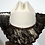 Thumbnail: Wester Cowboy Hat with Cowhide and Amber Hat Band Size 7 1/2 #56