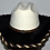 Thumbnail: Western Cowboy Hat with Dark Brown Cowhide and Amber Hat Band Size 7 5/8 #61