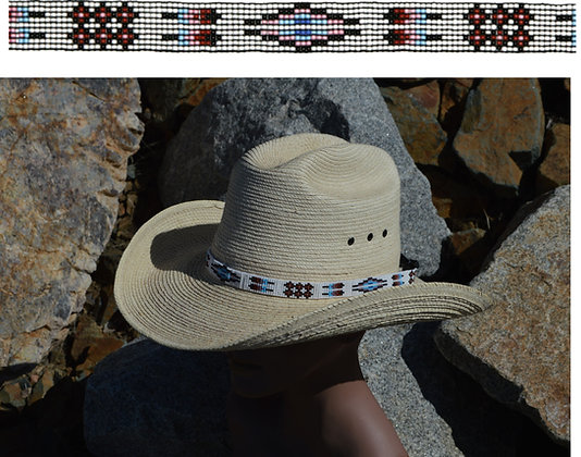 """5/8"""" Beaded Hatbands With Suede Tie Ends  Product #: bhg-17-se"""