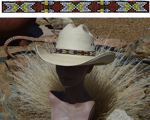 """3/4"""" Wide Stretch Bead Hatbands  Product #bead9e-M"""