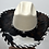 Thumbnail: Western Cowboy Hat with Cowhide and Crystal Hat Band Size 7 #48