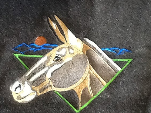 MULE WITH MOON. This is just a sample of the embroiderywe do,