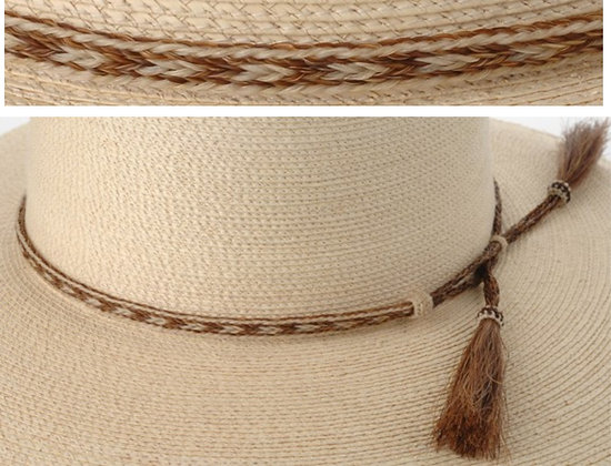 3 Strand Horse Hair Hatband, Pattern 9  Product #: bhh03-9