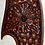 Thumbnail: Western Hat Hand tooled, cut leather trim Sunbody Hat Size 6 7/8 #9