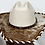Thumbnail: Western Cowboy Hat with Cowhide and Amber Hat Band Size 7 1/2 #54