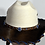 Thumbnail: Wester Cowboy Hat with Dark Brown Cowhide and Blue Hat Band Size 7 1/2 #57