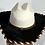 Thumbnail: Wester Cowboy Hat with Black Cowhide and Amber Hat Band SIze 7 1/2 #58