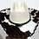 Thumbnail: Wester Cowboy Hat with Cowhide and Amber Hat Band Size 71/4 #53