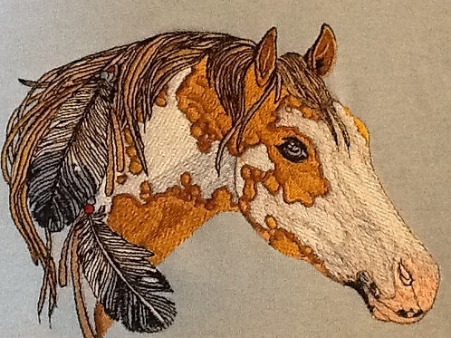 INDIAN PONY.  This is just a sample of the embroidery we do,
