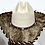 Thumbnail: Wester Cowboy Hat with Cowhide and Crystal Hat Band Size 7 1/4 #52