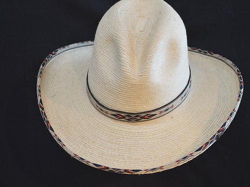 Western Cowboy Hat Sunbody Blue Diamond Palm Leaf