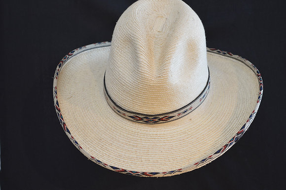 Western Cowboy Hat Sunbody Blue Diamond Palm Leaf