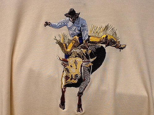 BULL RIDER, This is just a sample of the embroidery we do,