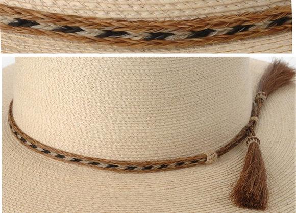 3 Strand Horse Hair Hatband, Pattern 7