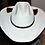 Thumbnail: Hand tooled, cut leather trim Sunbody Hat WITH SINGLE HART SIZE 71/2 #24