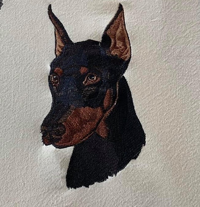 DOBERMAN.  This is just a sample of the embroidery we do,