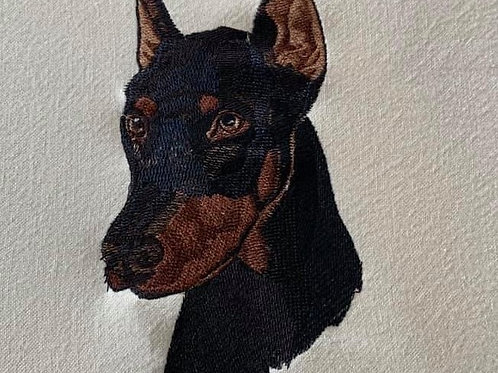 DOBERMAN.  This is just a sample of the embroiderywe do,